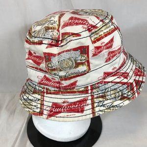 Budweiser Crusher Bucket Hat Cotton Beer Labels 96983e4e54d